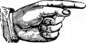 El dedo acusador versión dibujo