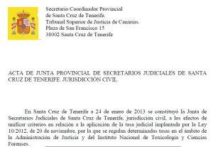 pantallazo de un acuerdo de junta de SSJJ