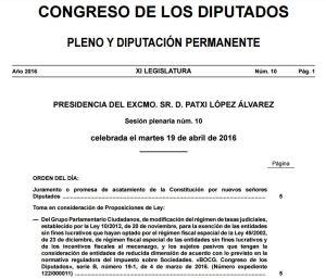 boletín Congreso 19-4-2016
