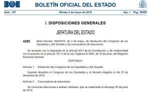 BOE 3-mayo-2016 convocatoria elecciones