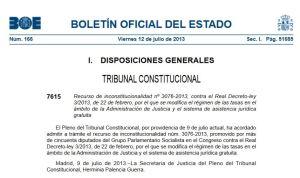 providencia admisión TC 12 julio 2013 contra recurso PSOE RDL 3-2013