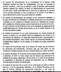 Página 14 del informe sobre carencia de documentación